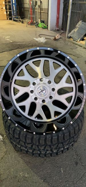 """24x12 XF 301 FORGED OFF-ROAD Wheels + 33""""-35"""" Tires 8 Lug Chevy Ford-We Finance for Sale in Stockton, CA"""