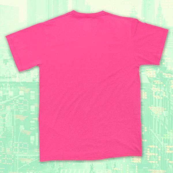 I LOVE NY Vintage Authentic Hot Pink Men's Tee