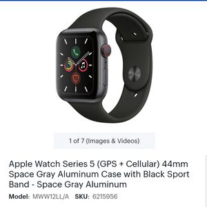 Apple Watch Series 5 Cellular - 44mm Space Gray, for Sale in Troy, MI