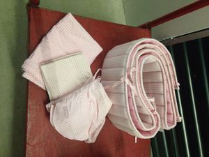 Baby Plaid Crib Bumpers, sheet, curtains, and pillow case for Sale in Glen Burnie, MD