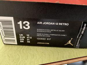 New In Box Size 13 Retro 12 'Bordeaux' for Sale in Franklin Park, IL