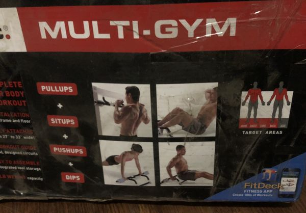 NEW Multi/gym and weight lifting straight bar