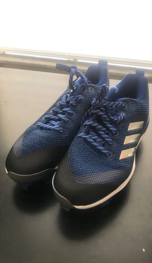 Adidas Women's Poweralley 5 Low Metal Fastpitch Softball Cleats Size 7.5 for Sale in Tampa, FL