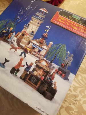 $40.00 - Christmas LightHouse 12pc Collectable - Retired/Hard to find complete Village Scene! for Sale in Miami, FL