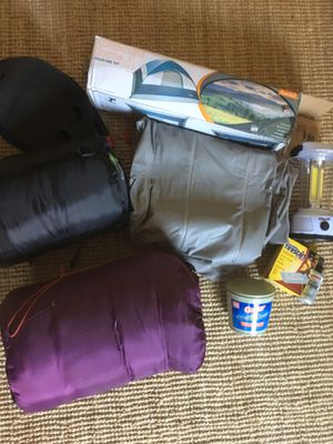 Camping supplies, Tent, Sleeping bag, etc... for Sale in Los Angeles, CA
