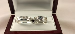 New with tag Solid 925 Sterling Silver HIS & HER WEDDING Ring trio Set size 9 / 10 /11 or 13 and 5 or 9 $250 set OR BEST OFFER *WE SHIP!📦📫 for Sale in Phoenix, AZ