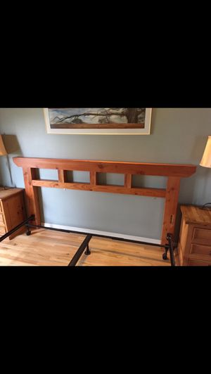 King wood headboard for Sale in Blaine, WA