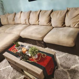 5 Piece Leather Microfiber Sectional Grant Collection for Sale in Portland, OR
