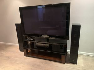 TV 65' plasma with entertainment center- NEEDS TO GO for Sale in Newport Beach, CA
