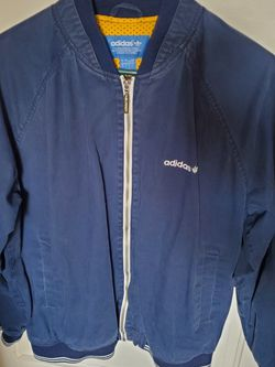 Adidas Navy/yellow Bomber Jacket (Mens Large) for Sale in Milwaukie,  OR