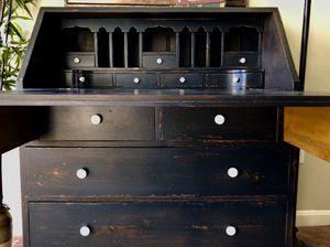 Blue secretary desk for Sale in Sykesville, MD