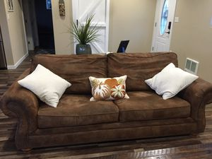 Suede looking couch for Sale in East Wenatchee, WA
