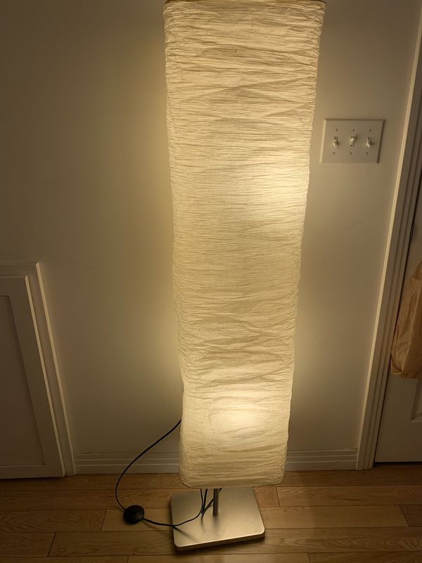 IKEA standing paper lamp with bulbs