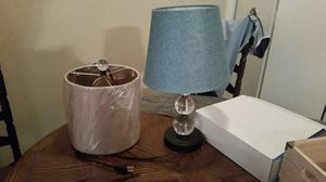 Lamp with interchangeable shades for Sale in Newport News, VA