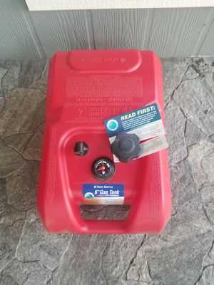 6 Gal Gas Tank w/ Fuel Gauge West Marine for Sale in Costa Mesa, CA