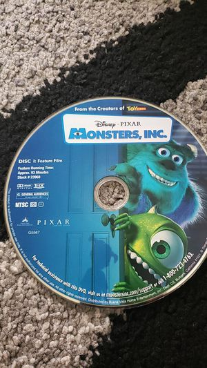 Monsters Inc. Movie CD for Sale in Fremont, CA