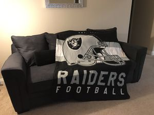 "Raiders Fleece Throw 60"" X 50"" for Sale in Las Vegas, NV"