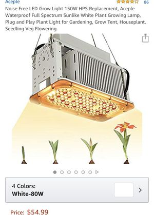 ACEPLE NOISE FREE LED GROW LIGHT 150W HPS REPLACEMENT for Sale in Norco, CA