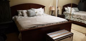 Ashley's furniture Cali King bedroom bed frame for Sale in San Bernardino, CA