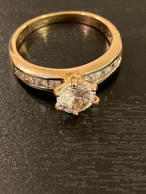 14K Gold plated Engagement Wedding Ring -Solitaire for Sale in Houston, TX