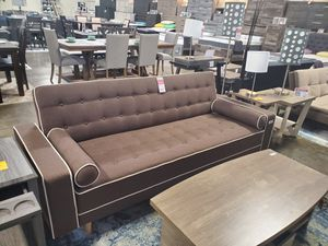 SPL Sofa Bed / Futon with Pillows, Brown for Sale in Santa Ana, CA