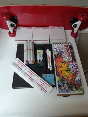Art supplies. Graff work done by dras for Sale in Los Angeles, CA