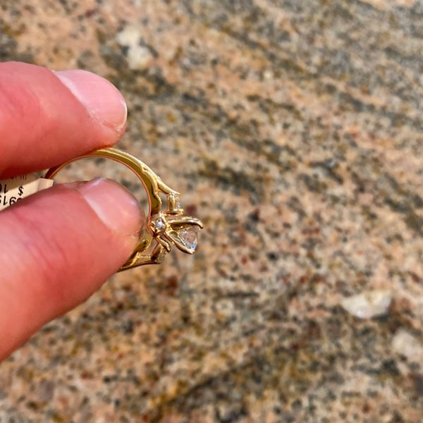 1 Carat Wedding Ring. 1.5 Carats Total. Stamped 14k Gold.