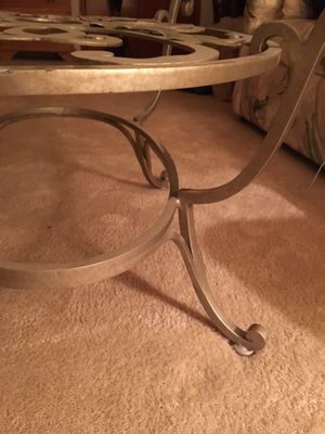 Glass round coffee table for Sale in Princeton, NJ