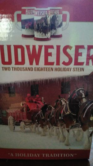 Budweiser 2018 collectable Clydesdale 2018 beer stein for Sale in Hoquiam, WA