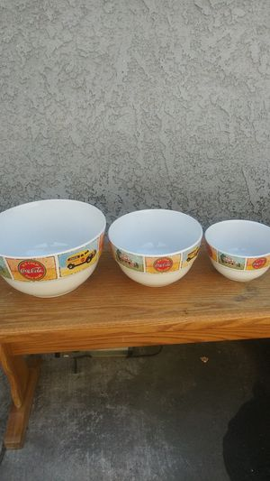 Coca Cola mixing Bowls for Sale in Fontana, CA