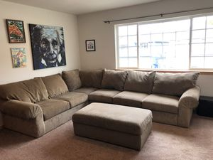 Sectional Couch Sofa with Ottoman for Sale in Granite Falls, WA