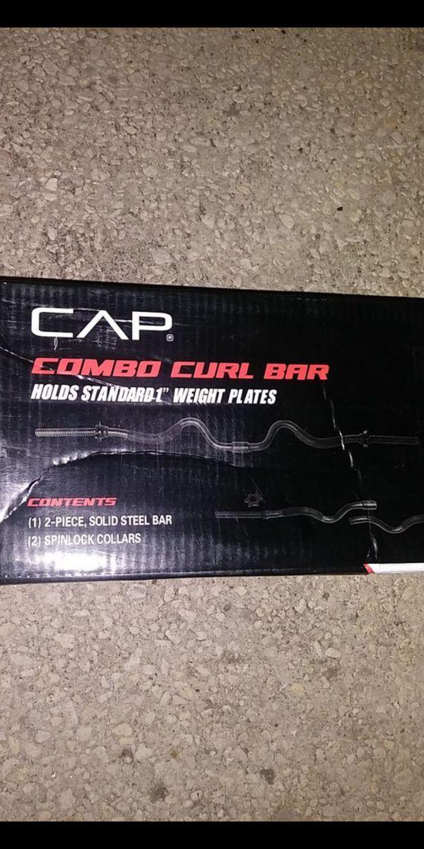 """Cap 1 """" curl bar"""