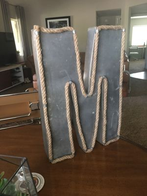 Metal and Rope Letter M Wall Art for Sale in Scottsdale, AZ
