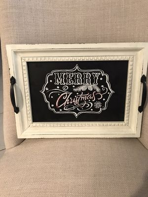 Gorgeous MERRY CHRISTMAS tray. Place on your coffee table or your kitchen counter or anywhere in your home. BEAUTIFUL! 15.5x11.5in for Sale in Pembroke Pines, FL