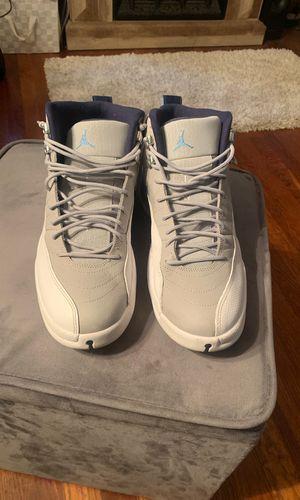 Jordan 12 Retro grey university blue for Sale in Kent, OH