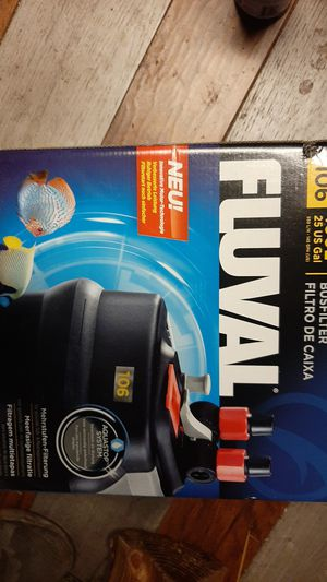 Fluval 106 filter sells for 109.99 for Sale in Bonney Lake, WA