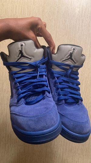 Blue Jordan Retro 5s for Sale in Raeford, NC