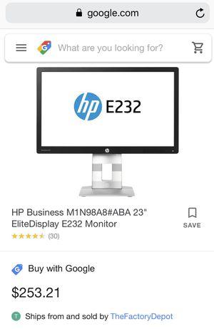 HP E232 monitor for Sale in GRANT VLKRIA, FL