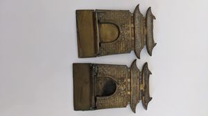 Antique Folding Korean Brass Bookends for Sale in Oceanside, CA
