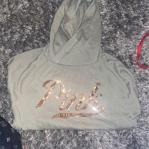 pink victoria's secret hoodie for Sale in Philadelphia, PA
