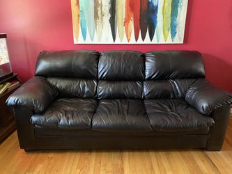 FAUX Black Leather Sofa for Sale in Parma Heights,  OH