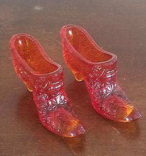 Fenton glass shoe set for Sale in San Diego, CA