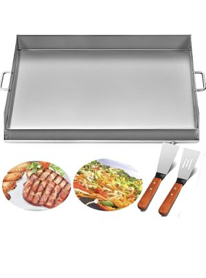 Universal Flat Top Griddle 36x22 inches BBQ Grills Stainless Steel Non Stick Burner Griddle with Removable Handles for Restaurant or Home Use for Sale in South El Monte, CA