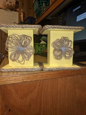 Homemade candle holders for Sale in South Williamsport, PA