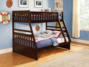 Rowe Cherry Twin/Full Bunk Bed by Homelegance for Sale in Jessup, MD