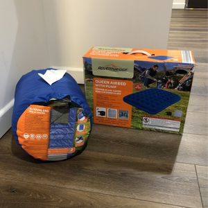 $35 Sleeping Bag & Queen Airbed with Pump Combo for Sale in San Diego, CA