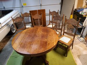 Antique Oak Dining Table for Sale in Clovis, CA