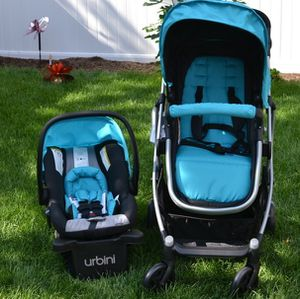 Stroller urbini and car seat for Sale in Muscoy, CA