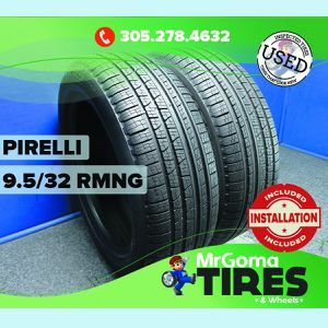 2 PIRELLI SCORPION VERDE A/S MOE RFT 235/55/19 USED TIRES 9.5/32 RMNG 2355519 for Sale in Miami, FL