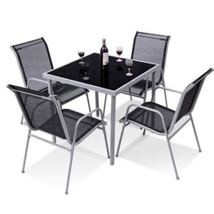 5-Piece Steel Outdoor Bistro Set, Garden Chairs and Table Set Patio Furniture for Sale in La Habra Heights, CA